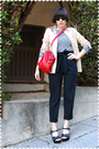 Blue-rodarte-for-target-shirt-black-zara-pants-black-kork-ease-shoes-red-r