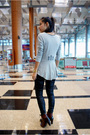 Gray-next-top-black-bysi-leggings-brown-shoes-gold-ring-accessories