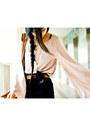Brown-mango-bag-navy-zara-shorts-nude-topshop-blouse-black-mphosis-sandals