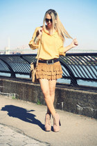 burnt orange bought in Rome skirt - tan Jeffrey Campbell boots