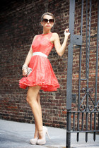 salmon AX Paris dress - beige Steve Madden heels