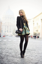 teal OASAP skirt - black MMM for H&M boots - black Zara blazer