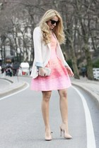 bubble gum Shoshanna dress - eggshell nowistylejp blazer