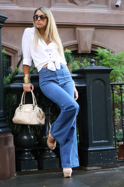H&amp;M jeans - H&amp;M shirt - rocco barocco bag