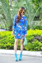 litas Jeffrey Campbell boots - OMG Fashion dress - retro foymall sunglasses