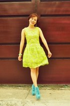 aquamarine Asian Vogue boots - lime green retro neon Wholesale7 dress