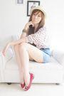 Topshop-hat-japan-sweater-topshop-shorts-michael-kors-shoes