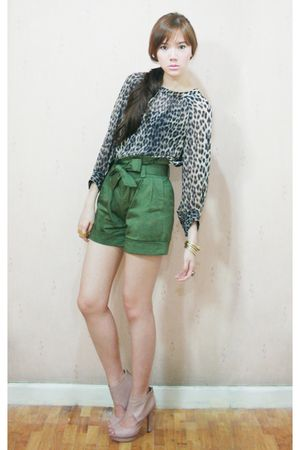 Topshop blouse - H&M shoes - Coexist httpcoexistonlinemultiplycom shorts