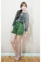 Topshop blouse - H&M shoes - Coexist httpcoexistonlinemultiplycom shorts