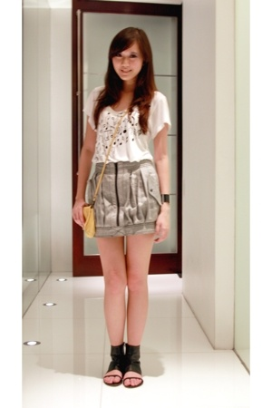 top Topshop - skirt Topshop - bag Topshop - shoes Sole - watch calvin klein