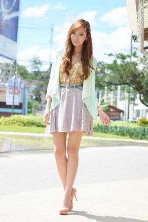 WAGW blazer - rabbit Gifts Ahoy ring - WAGW top - WAGW skirt