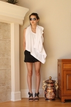 black Dries Van Noten shoes - black Clu shorts - PROENZA SCHOULER sunglasses