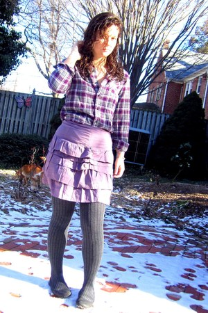 purple Target shirt - light purple Forever 21 skirt - charcoal gray Target stock