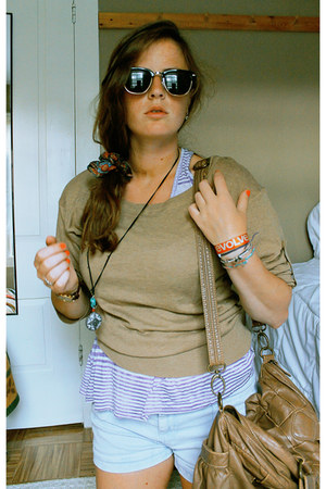 H&M bag - Suzy Sheir shorts - H&M sunglasses