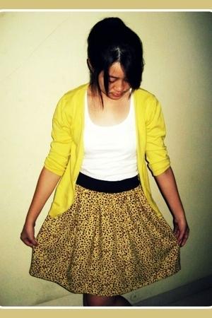 sweater - t-shirt - skirt