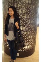 silver unbranded t-shirt - black