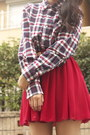 Navy-flannel-american-apparel-shirt-ruby-red-tabio-socks