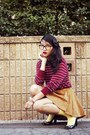 Bow-american-apparel-accessories-diy-daiso-glasses-american-apparel-cardigan