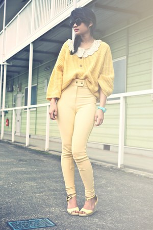 light yellow SM2 sweater - cream from bangkok blouse