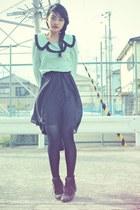black Topshop boots - black mullet skirt Sheinside skirt