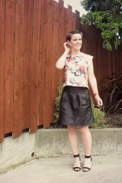 custom made top - Glassons skirt - Number One Shoes heels