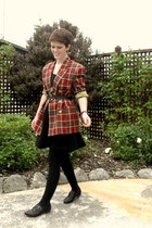ruby red thrifted vintage blazer - black Pulp flats