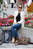 tan 31 Phillip Lim bag - ivory haute hippie blouse
