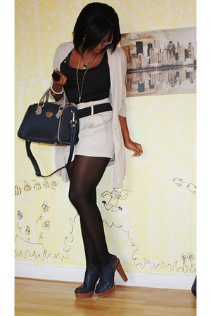 Forever 21 heels - Laurent David bag - Voice of Europe top - H&M cape