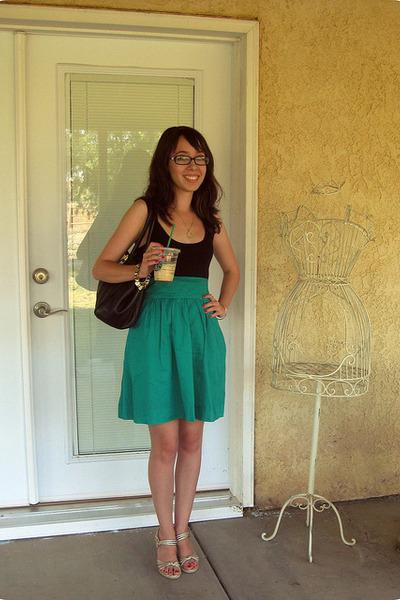 gold Michael Kors shoes - green Express dress