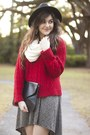 Brick-red-knit-forever-21-sweater
