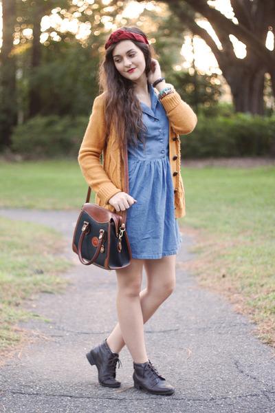 mustard knit Forever 21 cardigan