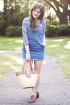 blue denim pinafore Choies dress