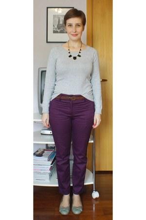 periwinkle Zara sweater - black Mandy e Mais necklace - brown Zara belt