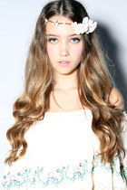 cream rose crown beckybwardrobe accessories