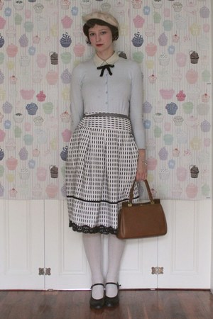 white Asda skirt - white 1950s birthday present hat