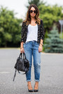 Black-morgan-old-jacket-sky-blue-boyfriend-h-m-jeans-black-balenciaga-bag