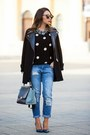 Blue-mango-jeans-black-forever-21-sweater-heather-gray-celine-bag