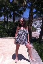 dark khaki Afrodithe dress - tan roberto cavalli sunglasses