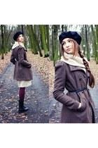 Zara boots - Bershka coat - H&M jumper