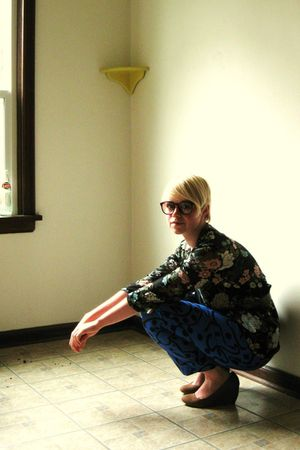brown American Apparel glasses - black Jo-Yana blouse - blue pants - brown Coope