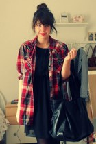 new look shirt - H&M dress - Zara bag