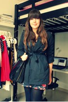 Primark dress - benetton jacket - H&M bag