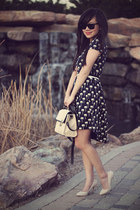 navy Zara dress - ivory Jason Wu for Target bag