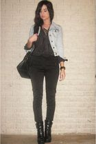 Forever 21 jacket - H&M Trend blouse - H&M pants - Target purse - alice  olivia
