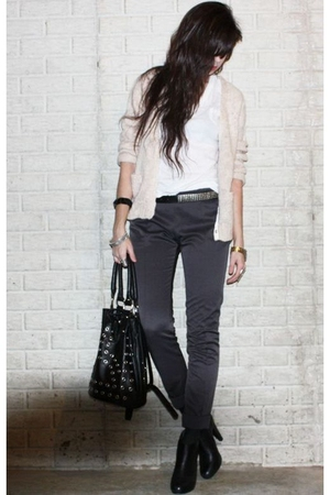 beige ecote from urban outfitters cardigan - white Target t-shirt - black Foreve