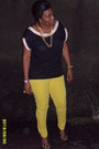 Ankle-strap-ivanka-trump-shoes-yellow-forever21-jeans-forever21-blouse