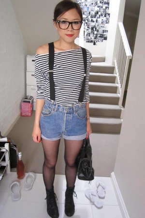accessories - Amercia Apparel top - Levis Vintage shorts - Wanted boots