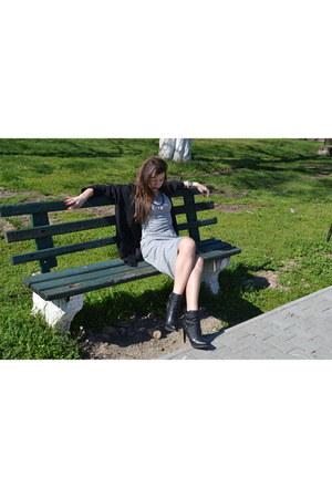 Zara boots - new look dress - Zara blazer
