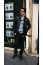 Gray-vintage-jacket-black-palladium-boots-brown-vintage-belt-blue-levis-sh