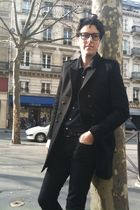 black skinny trousers april 77 jeans - The Kooples coat